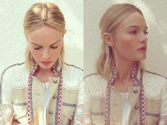 Kate Bosworth's braided half-up