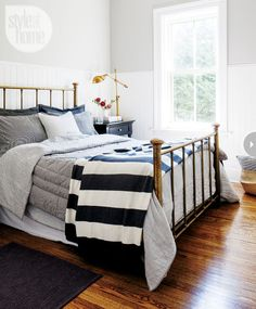 I would like to give Paul's bedframe an oiled bronze look.  Soothing and subtle - Style At Home