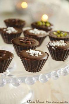 Petits chocolats fourrés à la ganache