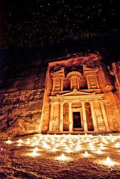 Beautiful photo of Petra by Night at Petra in Jordan