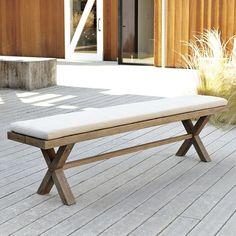 Jardine Bench & bench cushion | West Elm