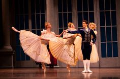 Pacific Northwest Ballet principal dancer Seth Orza with Company dancers in Kent Stowell's Swan Lake. Photo © Angela Sterling.