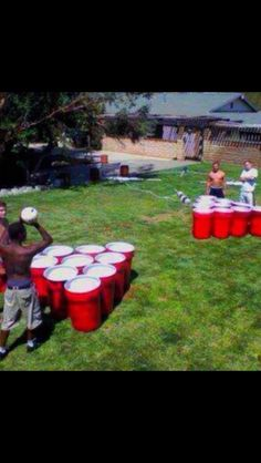 Giant beer pong. This would be so fun!