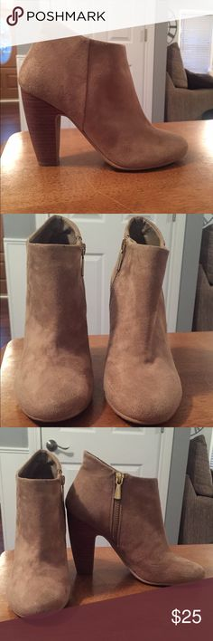 Tan ankle boots Brand- Abound (from Nordstrom Rack).  They have medium wear but are still in great condition. Abound Shoes Ankle Boots & Booties