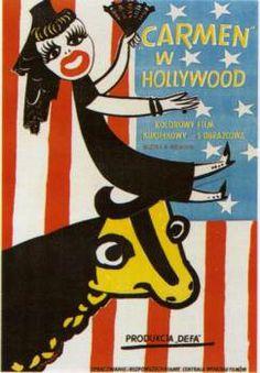 Carmen w Hollywood - Henryk Tomaszewski Polish poster gallery Polish poster school