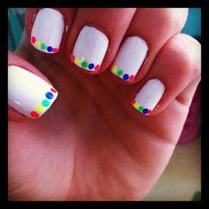 My fun summer nail design I did!  www.blueexpression.co