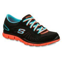 6b2ed9296bfd Skechers Flex Gratis Spectacle Womens Black Athletic Running Walking Shoe
