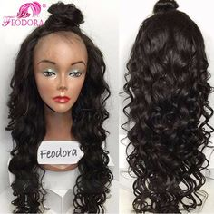 Full Lace Human Hair Wigs For Black Women 7A Virgin Peruvian Lace Front Wig Baby Hair Unprocessed Glueless Full Lace Wig Natural
