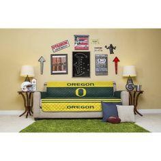 Ncaa Licensed Sofa Cover, University of Oregon, Multicolor