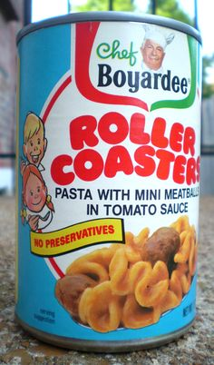 The best Chef Boyardee ever! Craved these the whole time I was pregnant with my oldest son. Retro Recipes, Vintage Recipes, Vintage Food, Vintage Ads, Vintage Labels, Vintage Photos, Vintage Items, Discontinued Food, Chef Boyardee