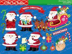 Christmas clipart Santa Claus digital clip art by CeliaLauDesigns