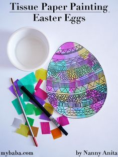 Create beautiful Easter themed pictures with this tissue paper painting Easter eggs. Easter Crafts, Crafts For Kids, Arts And Crafts, Fun Things, Things To Think About, Tissue Paper, Easter Eggs, Make Your Own, Craft Ideas