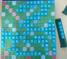 Scrabble, Lava, Board Games, Entertaining, Foods, Activities, Stone, Green, Products