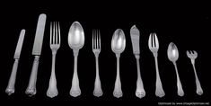 Buy online, view images and see past prices for Henin - Antique French Louis XVI Sterling Silver Flatware Set, 14 Serving Pieces. Invaluable is the world's largest marketplace for art, antiques, and collectibles. Gourmet Hot Dogs, Sterling Silver Flatware, Silver Age, Silver Ring, Word Pictures, Venetian Mirrors, Flatware Set, French Antiques, 19th Century