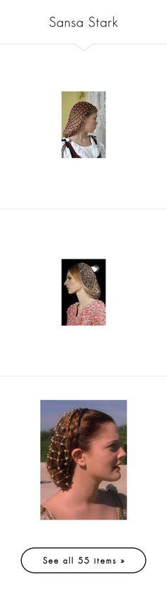 """Sansa Stark"" by ofmonstersandmen1 on Polyvore featuring dresses, wedding dresses, beige, medieval, gowns, costumes, medieval dresses, renaissance costumes, ladies halloween costumes and renaissance lady costume"