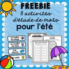 Summer is quickly approaching! These Summer Word Work Activities will certainly motivate your students through that final stretch at the end of the year! ********************************************************* Looking for more Word Work Activities? End Of Year Activities, Word Work Activities, Writing Activities, French Teaching Resources, Teaching French, Classroom Resources, Teaching Ideas, Classroom Ideas, Summer Worksheets