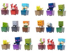Minecraft Mini Figure Pack) Rolling Minecraft Carts C. Themed Birthday Cakes, Themed Cupcakes, Fun Cupcakes, Birthday Cake Toppers, Birthday Cupcakes, 7th Birthday, Cupcake Toppers, Minecraft Cake Toppers, Minecraft Cupcakes