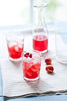 Apricot Cherry Spritzer ..8 oz limeade * 4-5 apricots, halved and pitted * 2-3 cherries, pitted * 3 oz light rum (increase for a stronger drink) * 2 oz triple sec