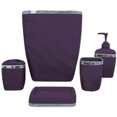 Purple Bathroom Accessories Sets