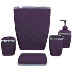 Hausratversicherungkosten Charming Purple Bathroom Accessory Set In Collection 5987
