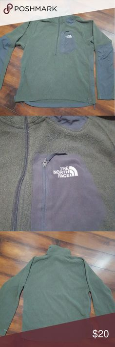 Men's North Face fleece, size medium Men's North Face fleece. Size medium.  Green and grey. No tares, holes or stains. North Face Jackets & Coats