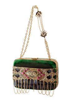 Meera Mahadevia Intricately Embellished Clutch
