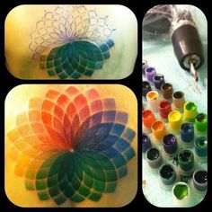 Color wheel tattoo.... this would be a cool integrated piece into a cosmetology inspired tattoo!
