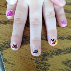Disney nail art- I did myself on a 5 yr old :)