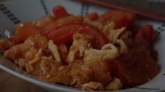 Stir-Fried eggs with Tomatoes | Feeding Fen