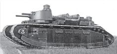 FCM 2C was the heaviest tank ever fought. It was designed at the end the IWW, but it fought in 1940.