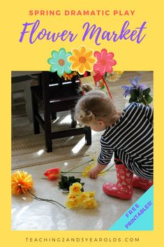 Spring is the perfect time to add a flower market to your toddler and preschool dramatic play area! I've included some free printables to go along with the fun, adding some extra literacy and fine motor into the activity. #flowers #dramaticplay #play #pretendplay #flowertheme #earlylearning #toddlers #preschool #classroom #preschoolthemes #printables #AGE2 #AGE3 #teaching2and3yearolds Educational Activities For Kids, Preschool Themes, Montessori Activities, Kindergarten Activities, Preschool Activities, Preschool Classroom, Preschool Block Area, Toddler Preschool, Dramatic Play Area