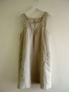 Handmade Linen Dress with Side Pockets