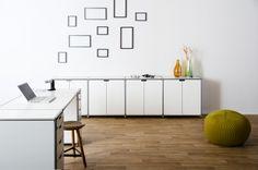 modular furniture I table I interior I home office I living I design I inspiration I sideboard I chair I white I System 180 - Made in Berlin