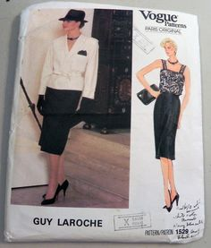 1980s Guy Laroche Jacket Camisole and Skirt by retroactivefuture, $18.00