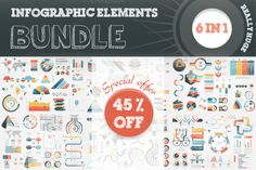 45% OFF #Infographic Elements #Bundle by Mayachok on Creative Market