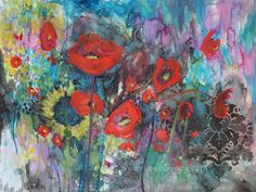 Bouquet of Poppies by annieflynn1 on Etsy