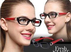 """High Fashion Readers Glasses For Woman"" Eye Prescription, High Fashion, Fashion Women, Optical Glasses, Reading Glasses, Red Purple, Eyewear, Lens, Unisex"