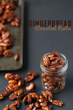 These gingerbread glazed roasted nuts use the traditional sweet and spicy flavour of gingerbread men to give a treat perfect for holiday parties or gifts.