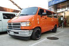 Dajiban - the art of Japanese Dodge Vans Dodge Van, Chevy Van, Sleeper Van, Orange Vans, Trucks, Custom Vans, American Auto, Car Manufacturers, Van Life