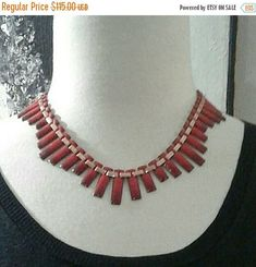 Excited to share the latest addition to my #etsy shop: VINTAGE VILLAINS SALE 1960's Matisse Renoir Copper and Red Enamel Peter Pan Style Choker Necklace; Excellent Condition. #jewelry #necklace #matisserenoir #bibnecklaces http://etsy.me/2mTX8pR