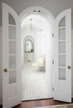 Master Bathroom With Arched Bi Fold Doors, Transitional, Bathroom. Perfect  For The Master