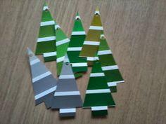 Design by Kryger: Juleforberedelser gavemærker af farvekort
