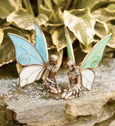 Pair of Kneeling Copper Fairy Statues.  Beautiful!!!