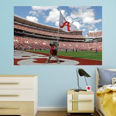 Fathead NCAA Alabama Crimson Tide Big Al Flag Wall Mural - 17-10090 : alabama tailgate tent - memphite.com