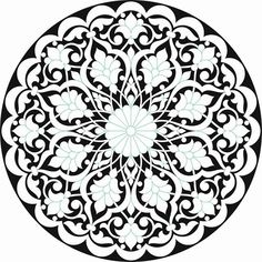 Calligraphy, marbling, relief and many other branches of art that can be used for selected drawings. Stencil Patterns, Stencil Painting, Stencil Designs, Ceramic Painting, Pattern Art, Islamic Art Pattern, Arabic Pattern, Branches Of Art, Motif Arabesque