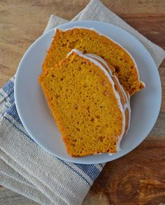 """This """"Drunken"""" Pumpkin Bread includes a shot of rum!  Have a slice for dessert this fall :)"""