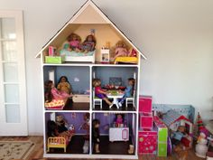 One of our American Girl doll houses!