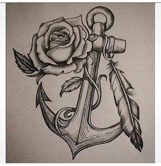 Anchor Rose tattoo design I drew – Rose Tattoos Navy Tattoos, Foot Tattoos, Body Art Tattoos, Sleeve Tattoos, Skull Tattoos, Flower Tattoos, Navy Anchor Tattoos, Butterfly Tattoos, Tattoo Designs
