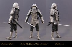 """These """"Samurai Wars"""" figures represent Sillof's vision of what Star Wars would…"""