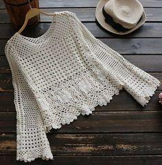 Crochet summer hat pattern yarns new ideas Black Crochet Dress, Crochet Skirts, Crochet Jacket, Crochet Cardigan, Crochet Clothes, Débardeurs Au Crochet, Mode Crochet, Crochet Stitches, Crochet Patterns